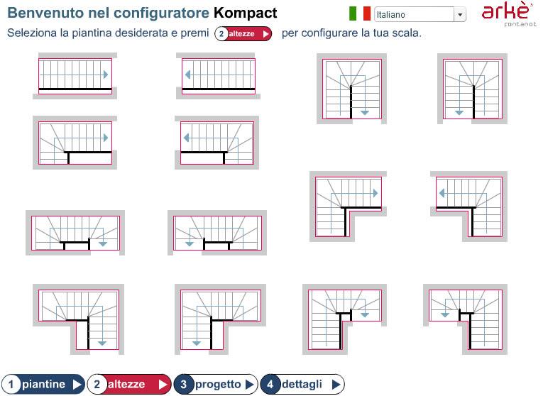 Top Progetta da solo la tua scala Fontanot - Capimax | Capimax LT73